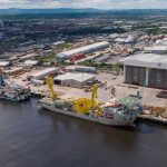 Cable laying vessels at Port of Middlesbrough