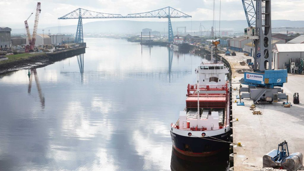 Port of Middlesbrough on the River Tees